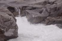 High flow, slow erosion. At Sarek National Park, Sweden.