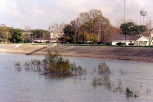Conventional dike in Gretna, Mississippi. Photo: http://commons.wikimedia.org/wiki/User:Infrogmation