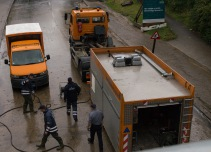 Flooding in Copenhagen 31st of August 2014 – pumping