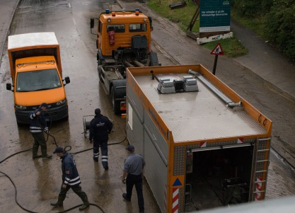 Flooding in Copenhagen 31st of August 2014 – pumping