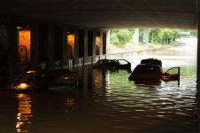 Flooding in Copenhagen 31st of August 2014 – flooded cars