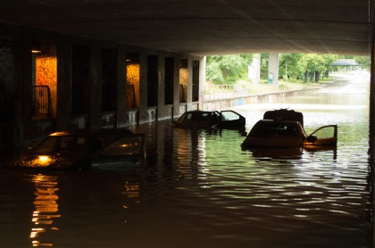 Flooding in Copenhagen 31st of August 2014 – flooded cars