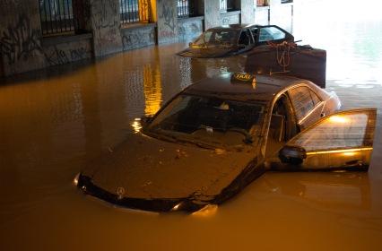 Flooding in Copenhagen 31st of August 2014 – Taxi