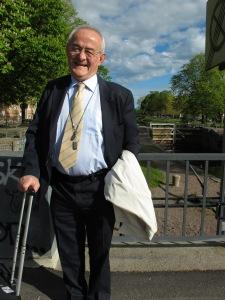 Picture of prof. Čedo Maksimović on a nice walk in Karlstad, Sweden.
